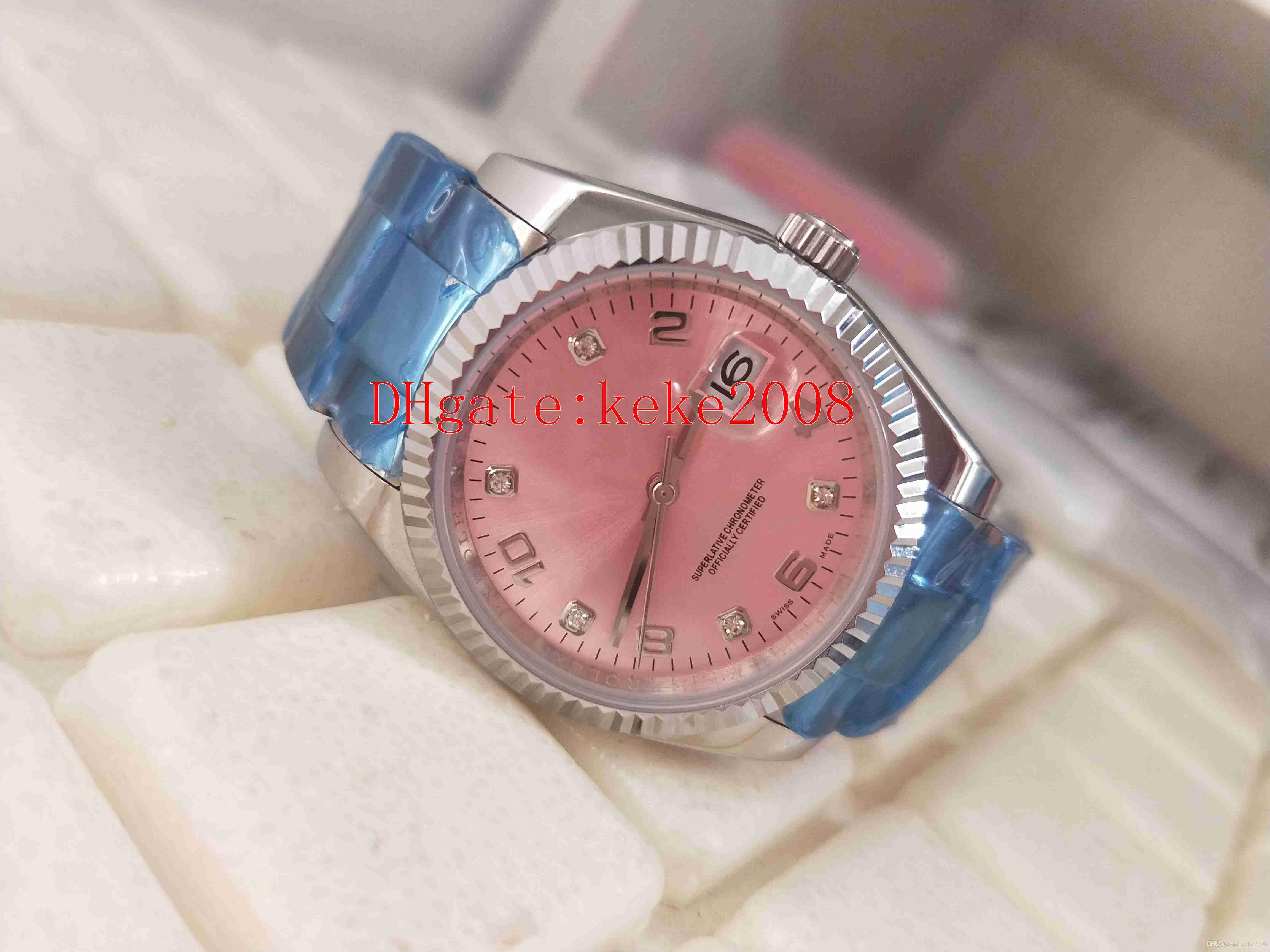 Отличные хорошие наручные часы 31 мм 36 мм 115234 розовый цифровой цифровой цифровой циферблат из нержавеющей стали Азия 2813 Механические автоматические дамы Смотреть женские часы