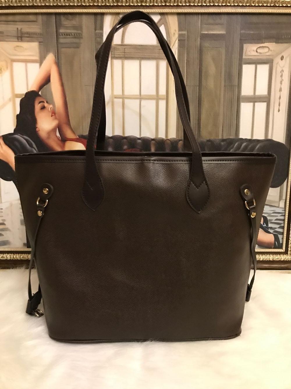 66 2pcs treillis mis en Top design femmes de qualité dames sac à main sac à main concepteur sac à main dame de haute qualité sac à main d'embrayage épaule rétro