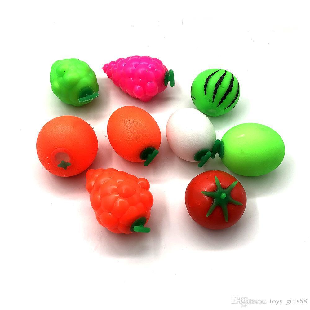Creativo frutta di simulazione squeeze sfogo palla luce farina di fango può cadere TPR rimbalzo lento giocattolo di decompressione morbida glutine