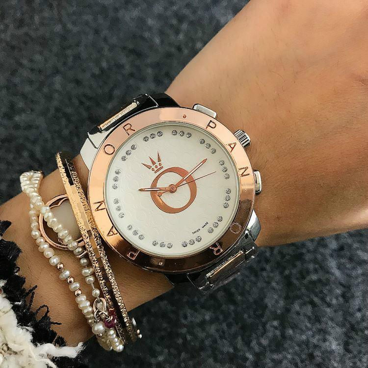 브랜드 품질 다채로운 판도라 여성 시계 팔찌 스테인레스 스틸 큰 다이얼 여성 Qaurtz 시계 우아함 고급 손목 시계