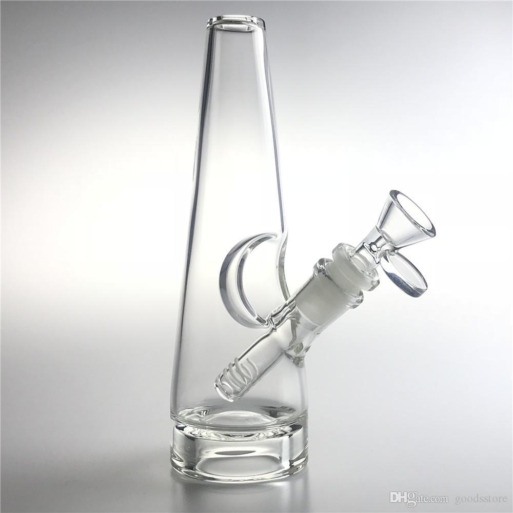 Bangs di vetro Tubo dell'acqua con 8 pollici narghilè 14mm Downstem di Downstem Bowls Bowls Thick Bottom Triangle Narghilè Beaker Bong ciotola per fumare tubi