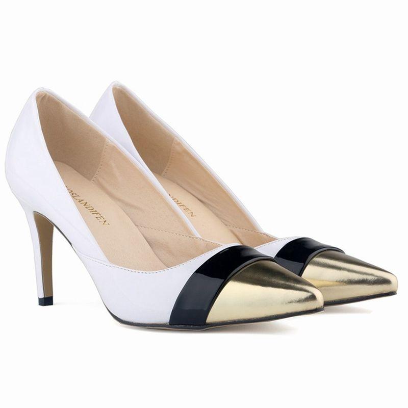 Großhandel Sapatos Feminino Womens Spitze Zehe Lack Pu Leder