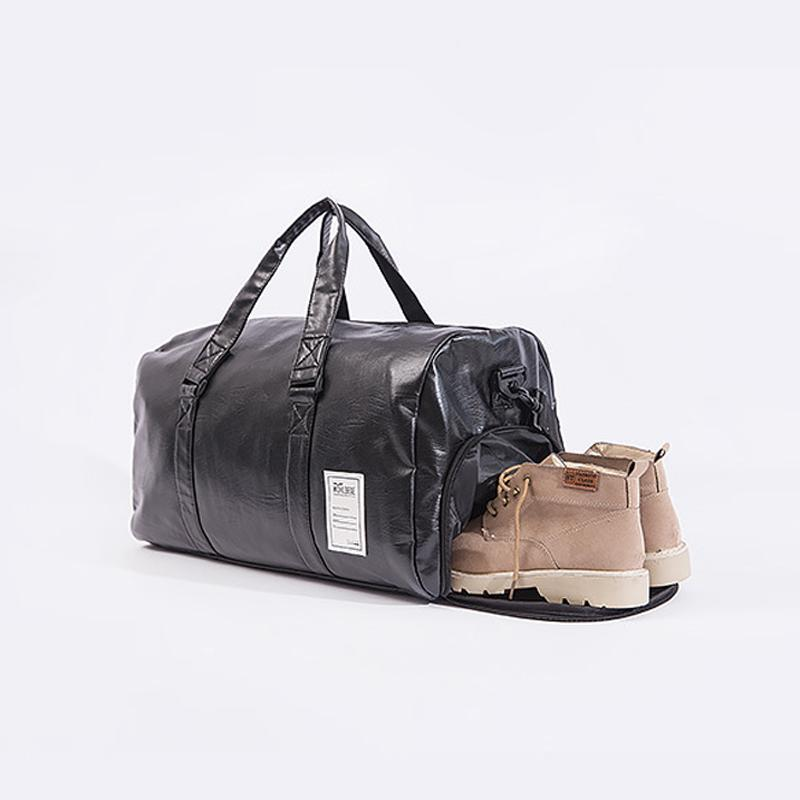 Large Capacity Men Luggage Leather Travel Shoulder Bags Duffle Gym Bags Tote Bag