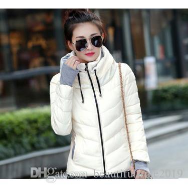 Designer Mulheres Inverno Outerwear Womens cor sólida gola Long Down Jacket Witn Zipper Inverno Quente Venda Magro Coat para mulheres Casual