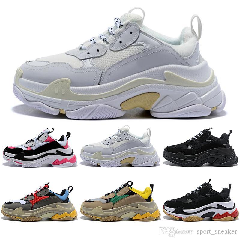 Balenciaga con calcetines 2019 de calidad superior Triple S Designer Low Old Dad Sneaker Combination Soles Boots Hombres Moda para mujer Zapatos casuales Tamaño 36-45