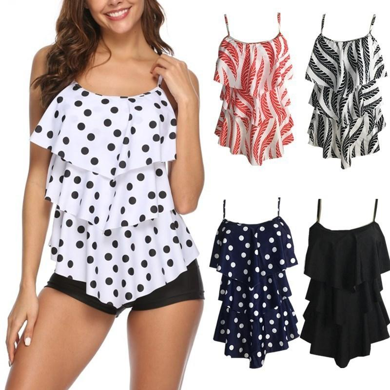 2019 Conjunto de bikini sexy Pantalones cortos Traje de baño Traje de baño femenino Correa de mujer Traje de baño sin mangas Xxl Trajes de baño de talla grande Bikinis de playa Y19072901