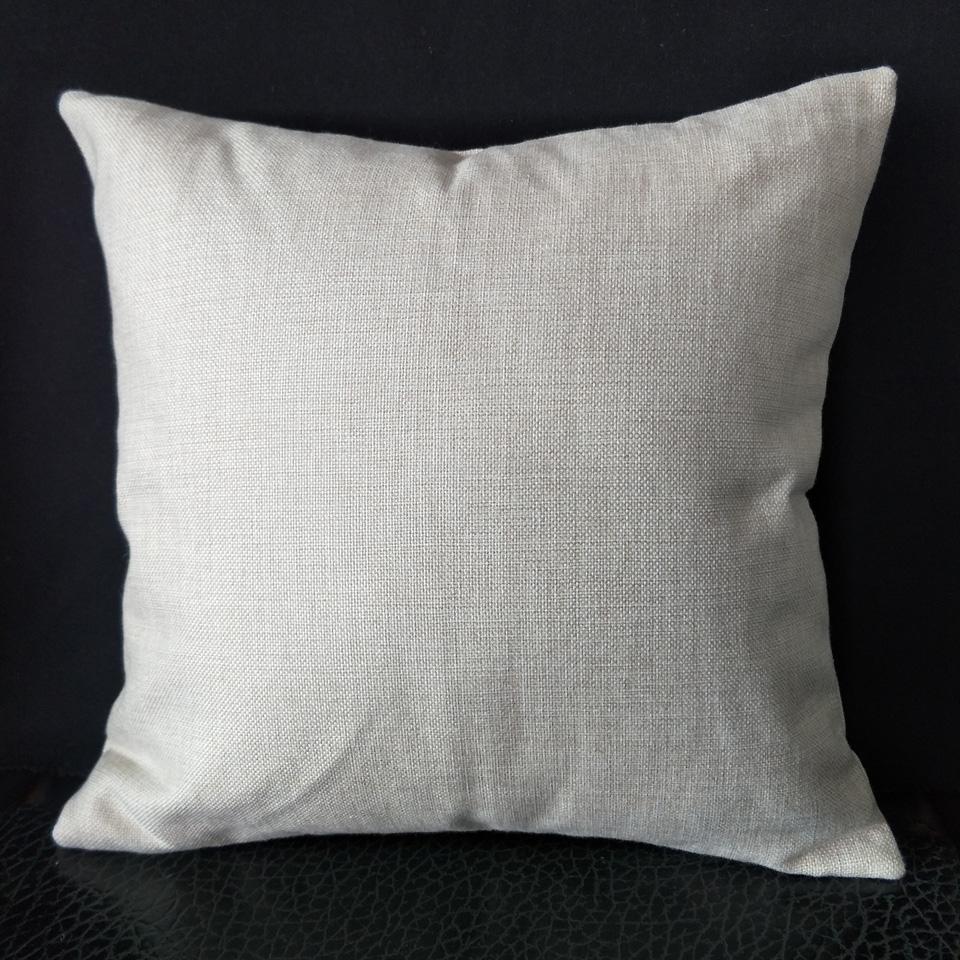 1 adet 16in 18in kare 12x18in kereste doğal gri poli keten yastık kılıfı süblimasyon için sahte keten yastık kapak DIY için ısı basın baskı
