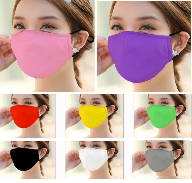 Masque lavable en tissu bouche Masque PM2,5 Masque de protection anti-poussière coupe-vent pour les femmes Hommes Noir Rouge Violet XHH9-3039