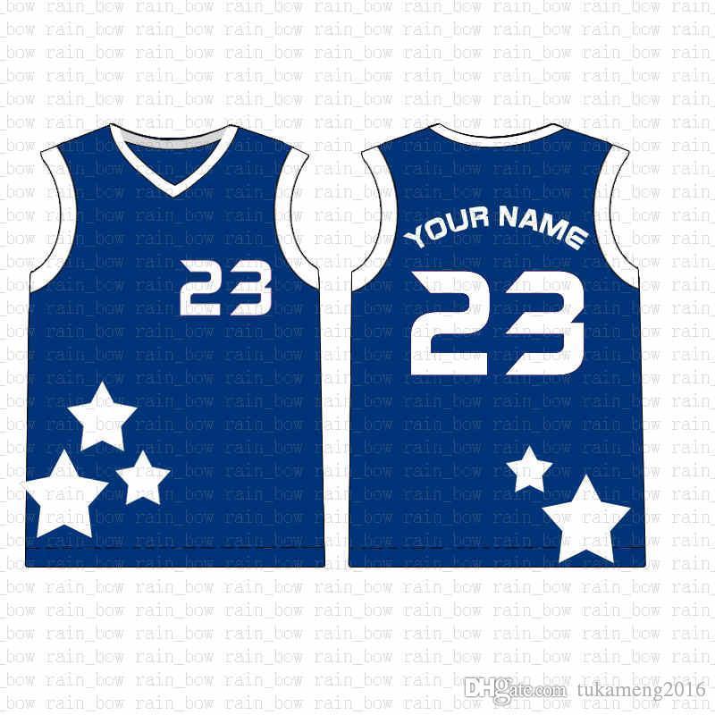2019 New Custom Basketball Jersey alta qualidade Mens frete grátis bordado Logos 100% superior costurado venda A14747