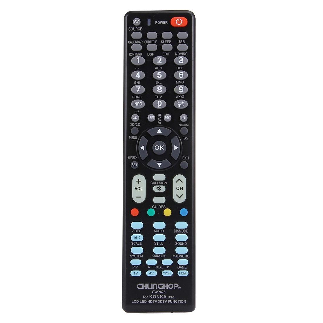 CHUNGHOP E-K906 Universal Remote Controller for KONKA LED TV / LCD TV / HDTV / 3DTV