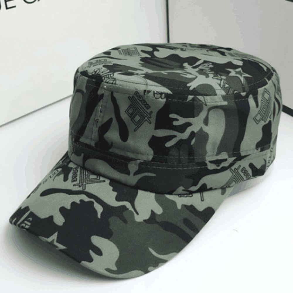 Algodón de alta calidad Marca Snapback capsula la gorra de béisbol para los hombres gorra de techo plano militar Sombrero Cadete Patrulla Bush casquillo del sombrero del campo de béisbol