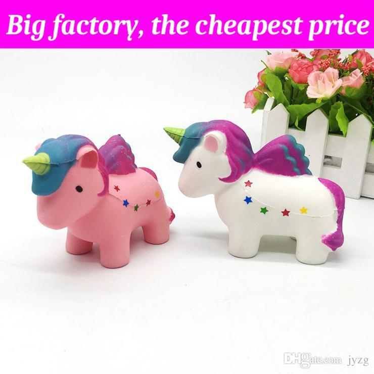 Squishy Lovely flying horse 12.5cm * 9cm enorme Slow Rising Soft Squeeze Cute Cell Phone Strap gift Stress kids toys Descompresión Toy