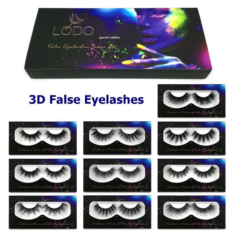 New Makeup Natural Faux 3D Mink Eyelashes Curl Cross Long Thick False Eyelash Mink Lashes Soft Handmade Eye Extension