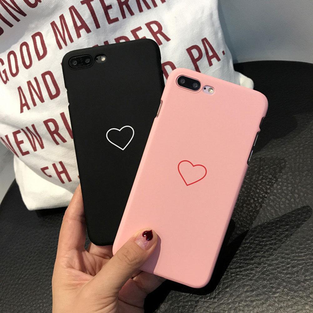 Love Heart Téléphone pour iPhone 11 Pro Max X XS XR Cases Mode bonbons couleur dur PC Retour pour iPhone 8 7 6 6S plus