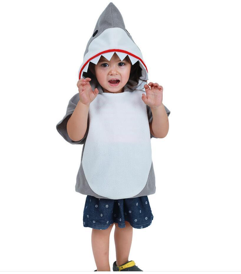 Fashion Kids Cute Animal Jumpsuit Cosplay Costume Samall Shark Stage Clothing Fancy Dress Halloween Christmas Props for Boys Girls Party