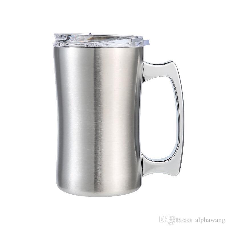 de acero inoxidable 304 en el exterior de doble capa jarra de cerveza de aislamiento al vacío taza de café frío jarra de cerveza de vidrio del agua doméstica