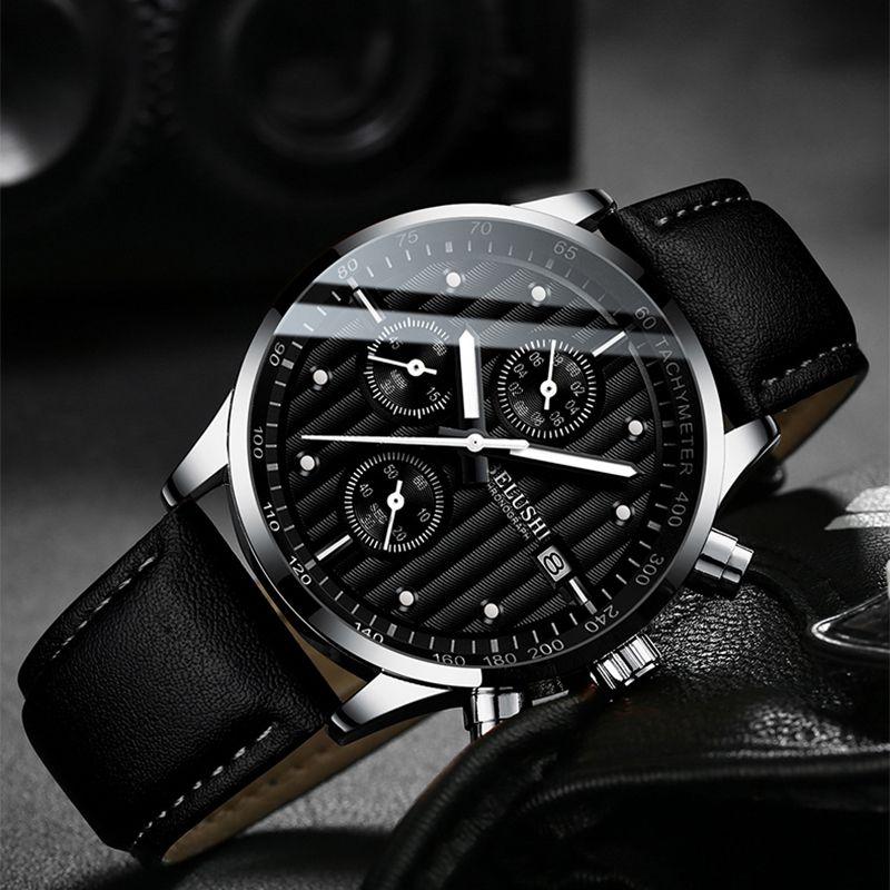 Hommes Montres Top Marque de luxe Montre Hommes Horloge Mode Quartz Montre Homme Sport Montres Homme Chronographe étanche Horloge LY191213