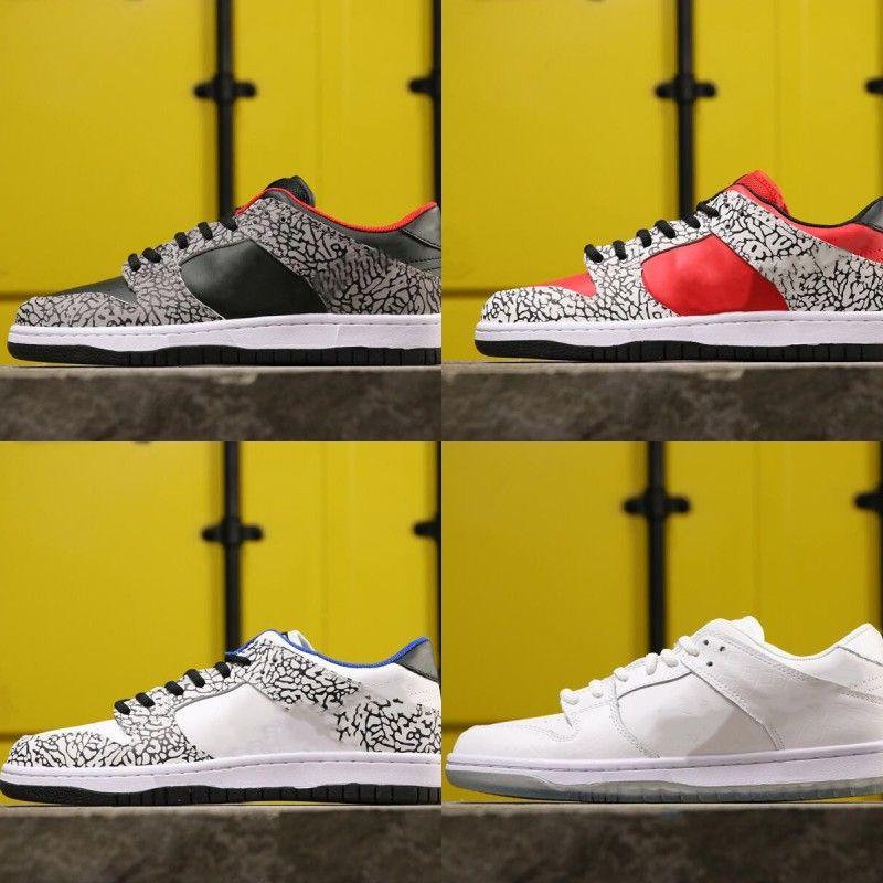 Heißer Verkaufs-Dunk SB Feuer-Rot-Weiß Schwarz Cement Gray Man Designer-Skateboard-Schuhe New Custom Mode Turnschuhe gute Qualität mit dem Kasten