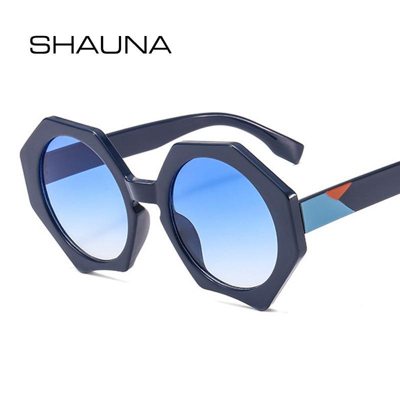 commercio all'ingrosso misto colori braccio retro poligono occhiali da sole donne progettista di marca moda uomo occhiali da sole rotondi UV400