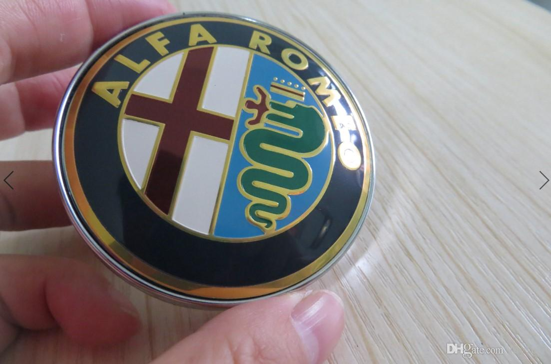 ALFA ROMEO ALLOY WHEEL CENTRE HUB CAPS GOLD//WHITE//BLUE//RED 60mm