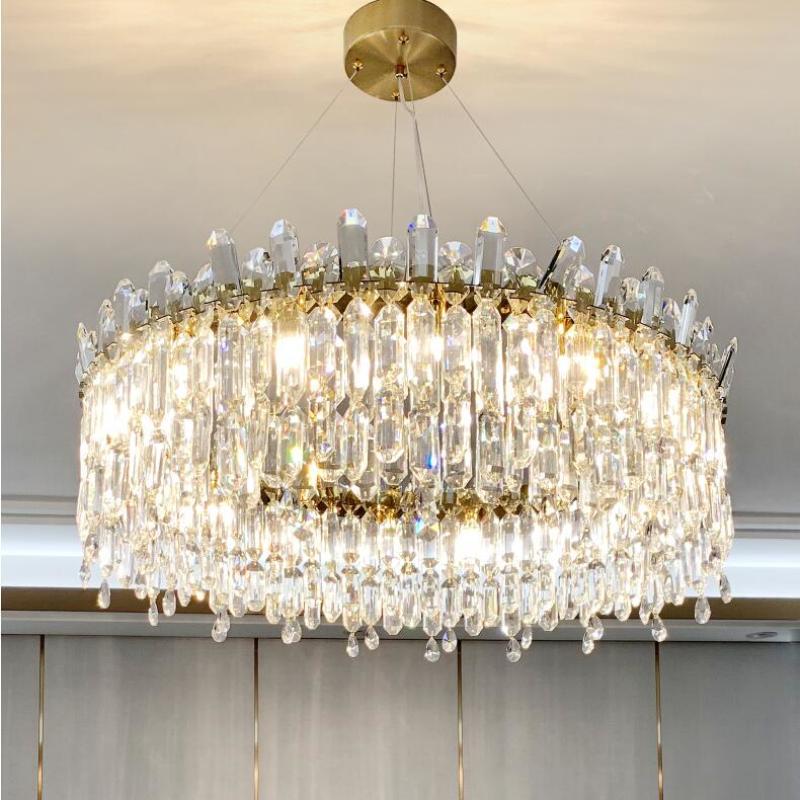 Nueva lámpara de cristal de diseño de salón salón dormitorio lámpara decorativa LED de iluminación de cristal redondo