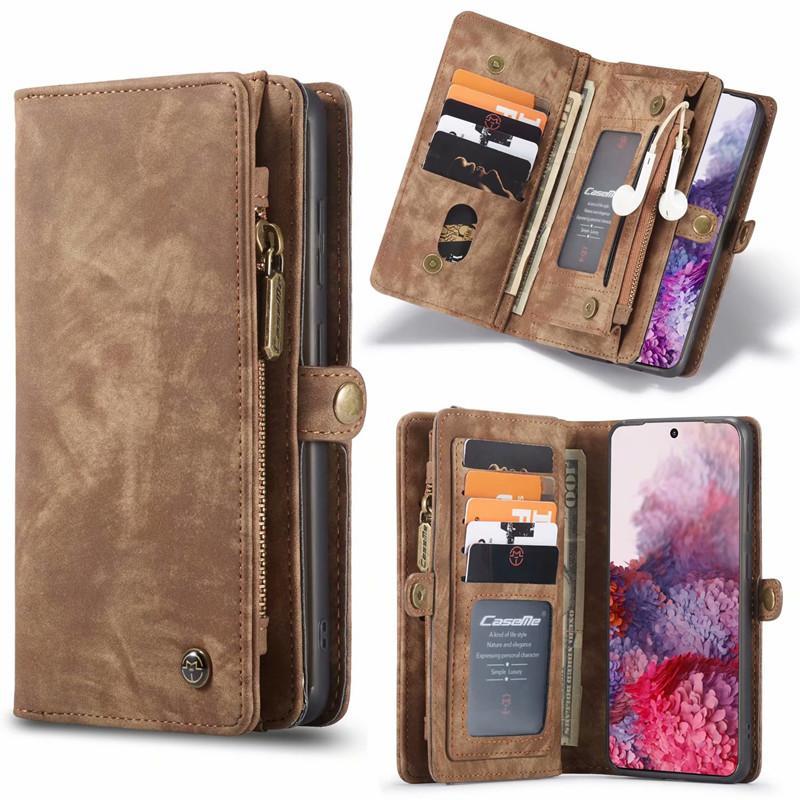 Lederbrieftasche für iPhone 12 11 Pro X XS MAX XR 8 7plus Marke Luxusabdeckung für Samsung Galaxy S20 S10 Anmerkung 20 10 9 Kartenhalter