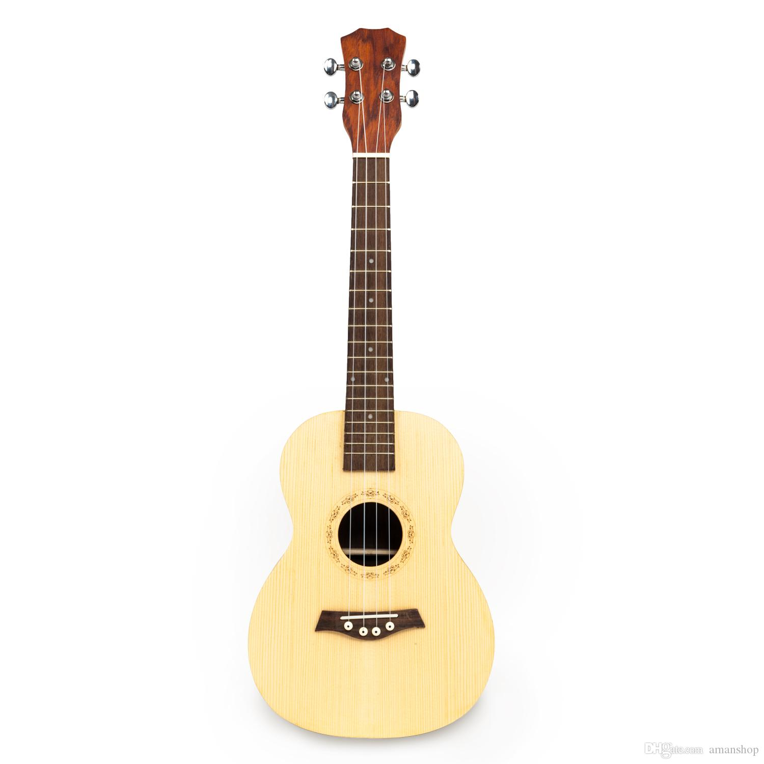 """UK601 26"""" Tenor Spruce Front-panel with Cacao Pineapple Wood Back and Side Panel Ukulele Wood Color"""