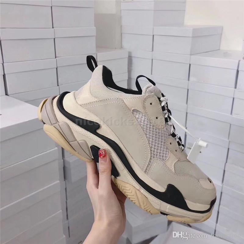 Bred Womens Retro Mens Sneaker calçados casuais malha Formadores para o pai Old Triple S partido na moda sapatos estilo de vida diário Skateboarding sapato