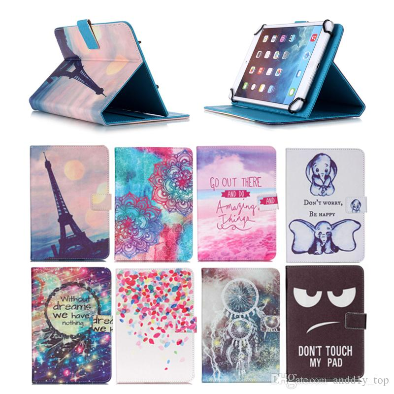 Cartoon Printed Universal 10 inch Tablet Case for Huawei MediaPad M5 10 Pro Cases kickstand PU Leather Flip Cover Case