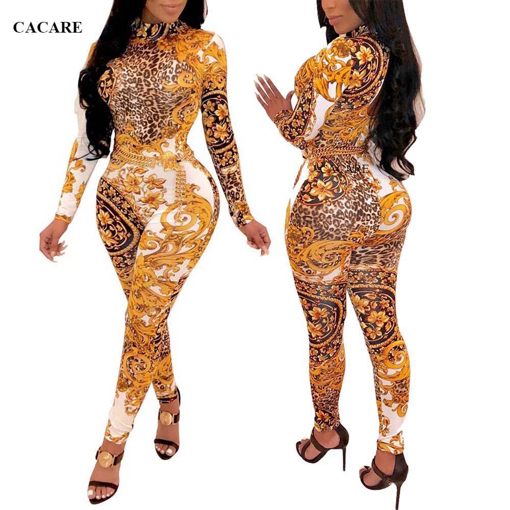 Imprimir largas Monos largos para las mujeres de los mamelucos de las mujeres de los guardapolvos PLAYSUIT Bodycon de las señoras del mono mono del F2908 3 colores de manga larga