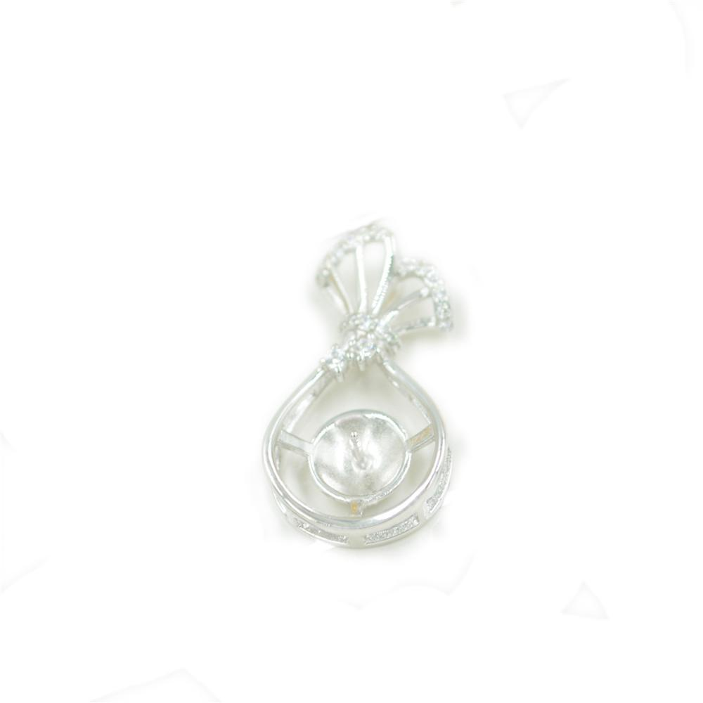 wholesale Fashion S925 Sterling Silver Pendant mountings fortune bag pearl Pendant mountings DIY Necklace accessories free shipping