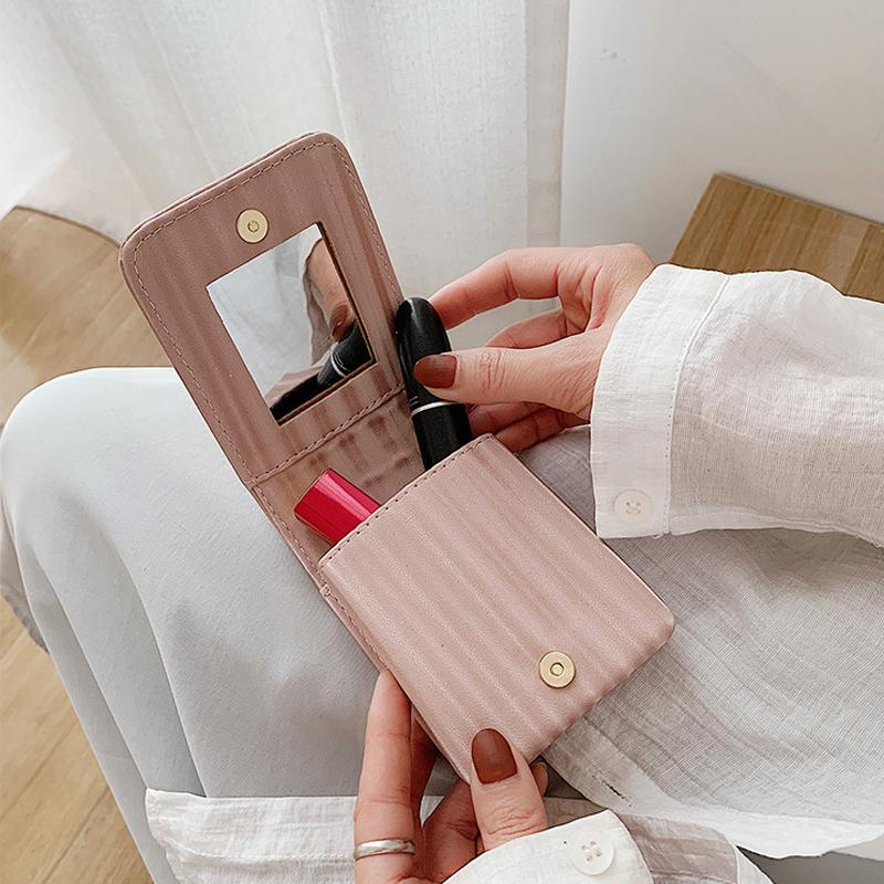 Hot Solid Color Cosmetic Cosmetic Mini Kulturwaren Schönheitstasche Reisen Aufbewahrungstasche Makeup Organizer Sale Xjjjn