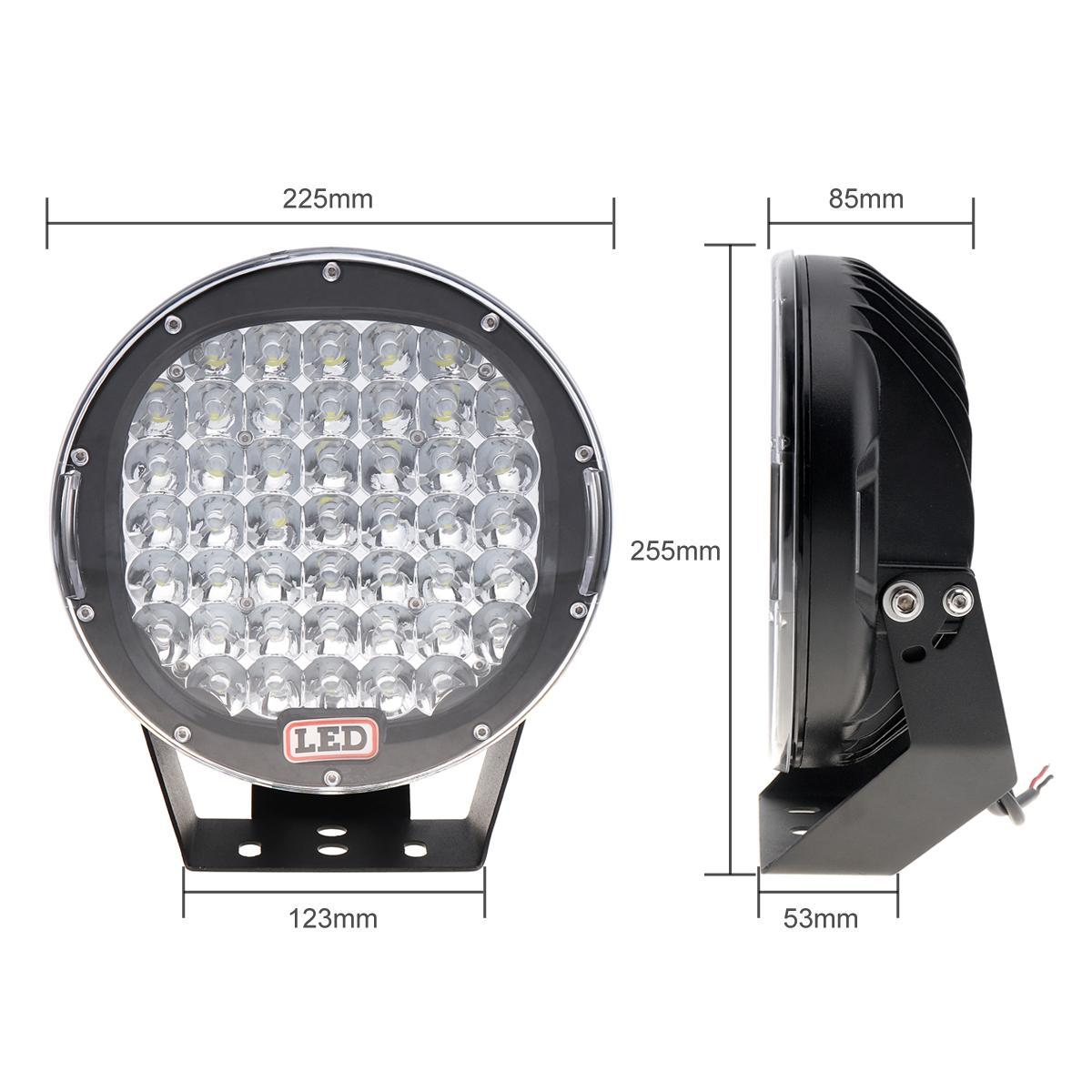 9 Inch Rounded 225w 45x Cree Led Car Worklight Spot /Flood Light Vehicle Driving Lights For Offroad Suv Atv Truck Boat Clt _42r