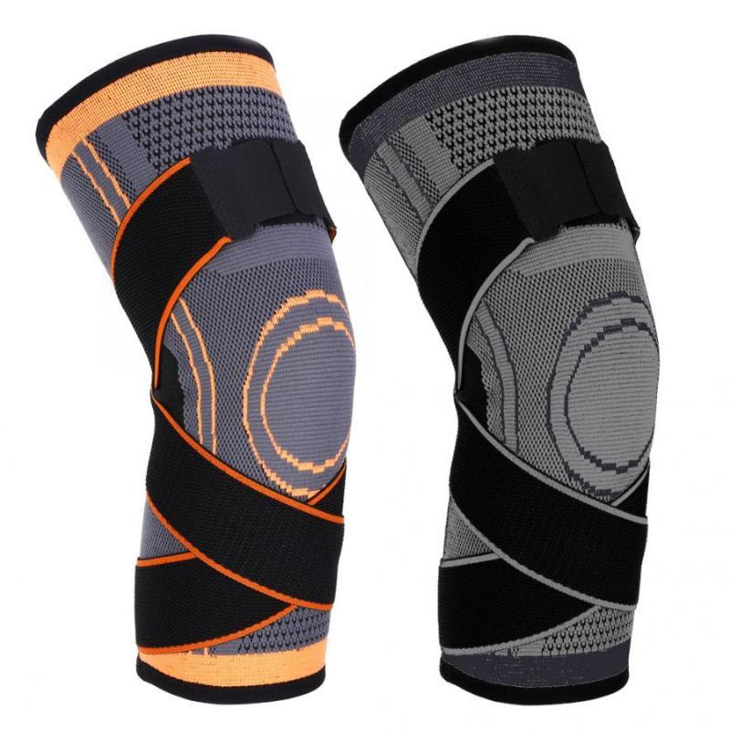 Knee Pad Guardia 1pc Sport traspirante Nylon rotula tenere in caldo Ginocchiera Leg manicotto protettivo in bicicletta corsa Fitness Protezione Gear