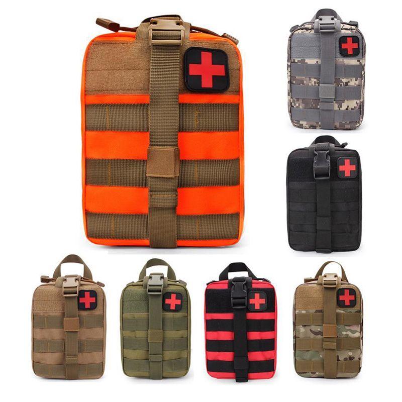 Taktik İlk Yardım Seti Ev Açık Tırmanma Yürüyüş Çanta EMT Tıbbi Acil Kılıfı Molle kompakt IFAK Evrensel Kılıfı boşaltın