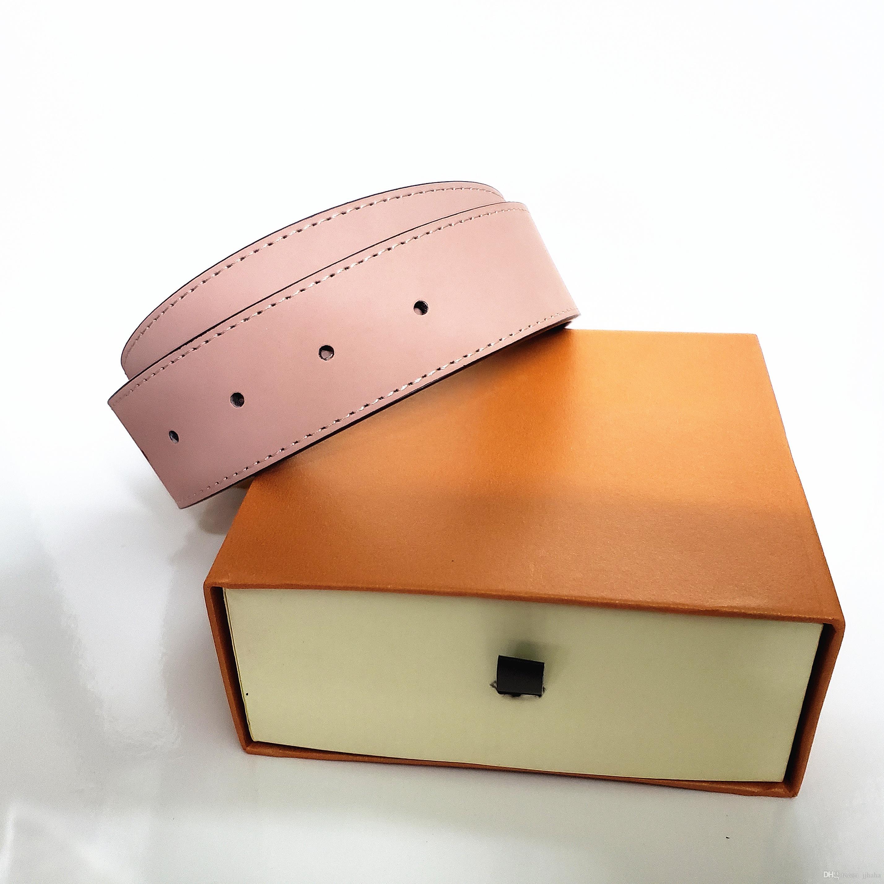 2020 Art und Weise mit Box Ledergürtel Gürtel für Männer Frau Frauen G große Goldschnalle Gurt oben Mens Schlange Gurtgroßverkauf freies Verschiffen