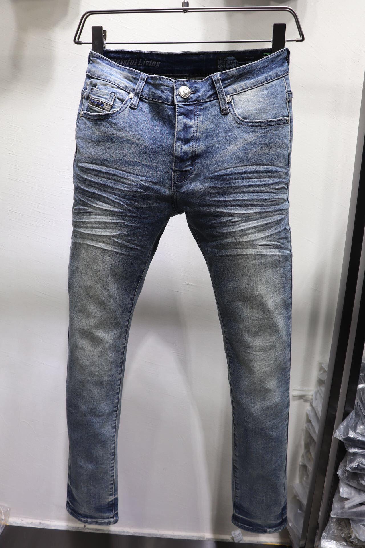 Новый стиль Дизель Известные дизайнеры случайные тонкий дизайн модно рваные джинсы мотоцикл летние брюки карандаш брюки джинсы 1024
