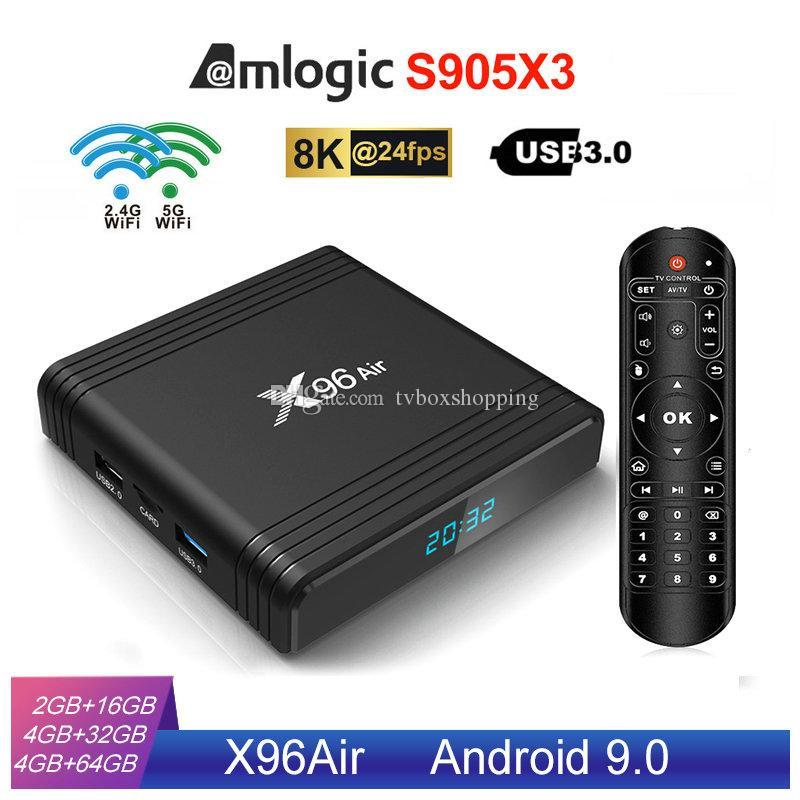 X96 Air Amlogic S905X3 Android 9.0 TV Box 4GB 32GB 2.4G+5.0G WIFI VS X96 Mini TX3 Mini