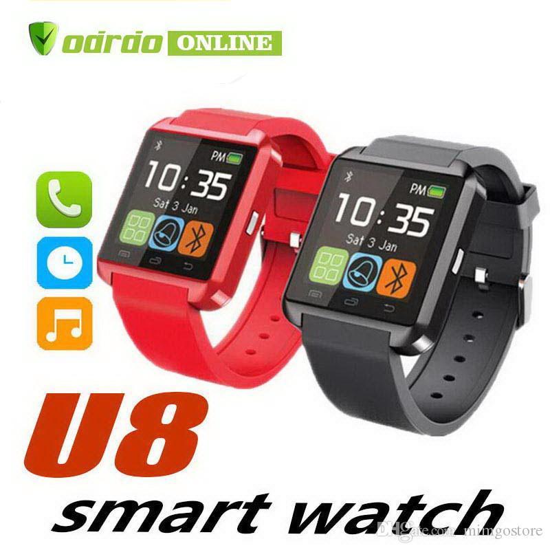 U8 Bluetooth Smart Watch U Relojes Touch Wrist WristWatch Smartwatch para iPhone 4 4S 5 5S Samsung S4 S5 Note 3 HTC Teléfono Android