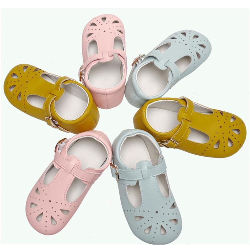 Usine chaussures vendre directement la taille USA prix pas cher bons enfants de qualité découpez sandales en cuir