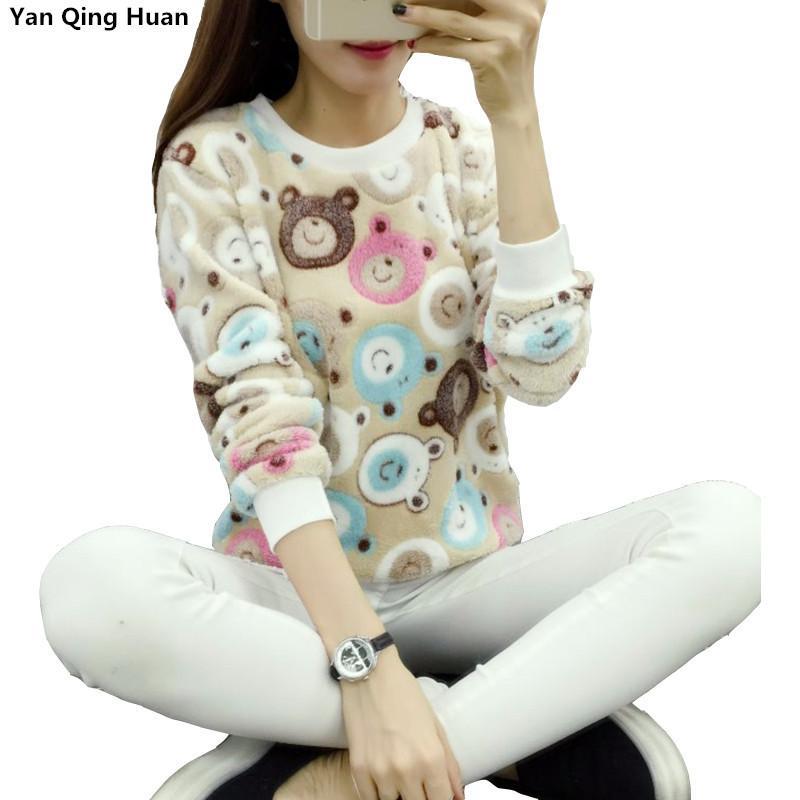 new Brand 2020 Harajuku Cute panda harajuku hoody sweatshirt for Women Fashion spring winter high quality Flannel pullover tops Y200106
