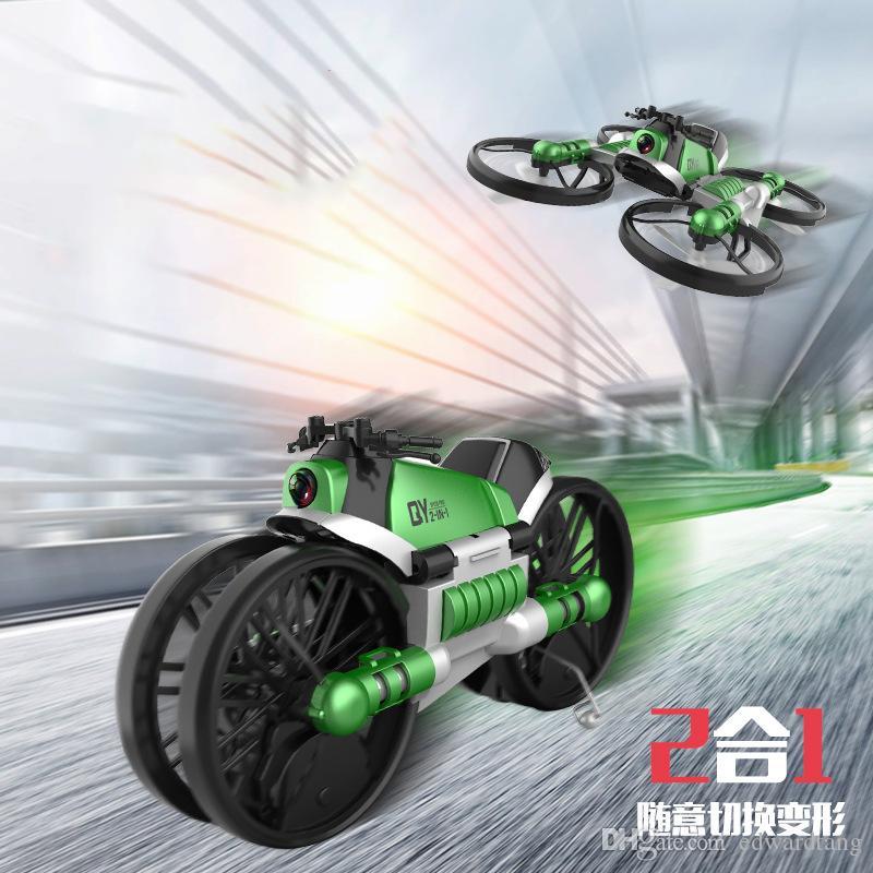2 في واحد بعد Transformble تحكم كوادكوبتر الدراجات النارية لعبة، WIFI FPV الطائرات، ارتفاع الطائرة بدون طيار عقد 360 درجة الوجه، لعيد الميلاد كيد بوي هدية، 3-2