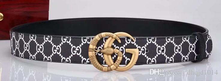 Cinghie della fibbia del progettista originale Cinture di alta qualità degli uomini di lusso della cinghia della fibbia Cinture di cuoio genuine Trasporto libero
