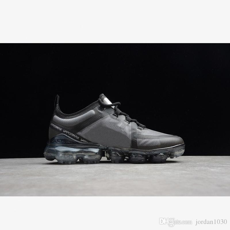 Nike Air VaporMax 2019 Triple Black 2020 uomini caldi di vendita di buona qualità delle donne scarpe da corsa AR6631-004 Triple-s piena Palm Pad atmosferica scarpe Nero di lusso