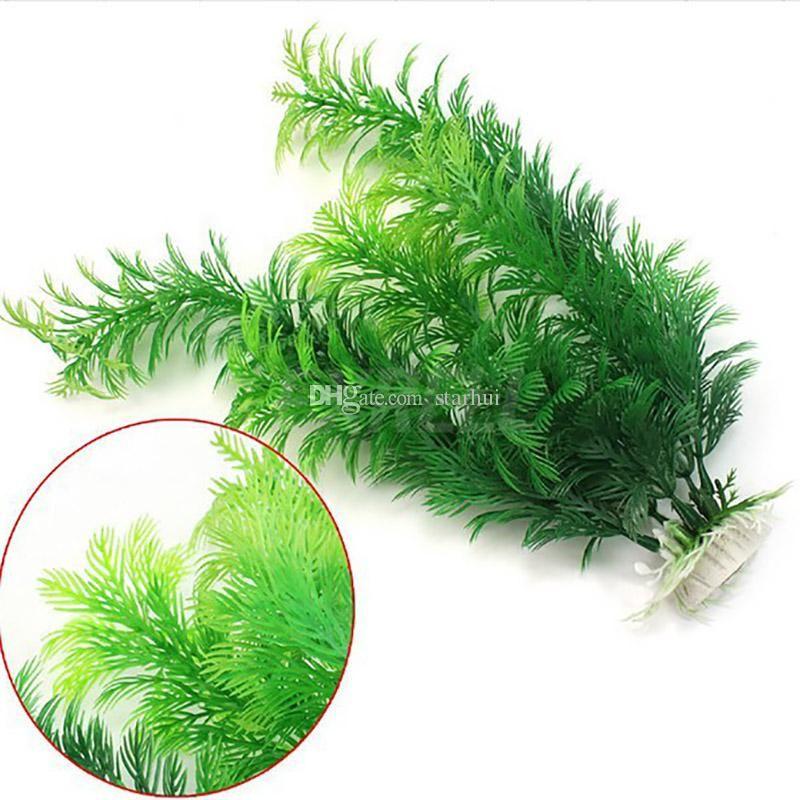 محاكاة الماء العشب الاصطناعي النباتات البلاستيك العشب حوض للأسماك المياه الديكور حلية ديكور حوض السمك للدبابات 30CM HH7-2032