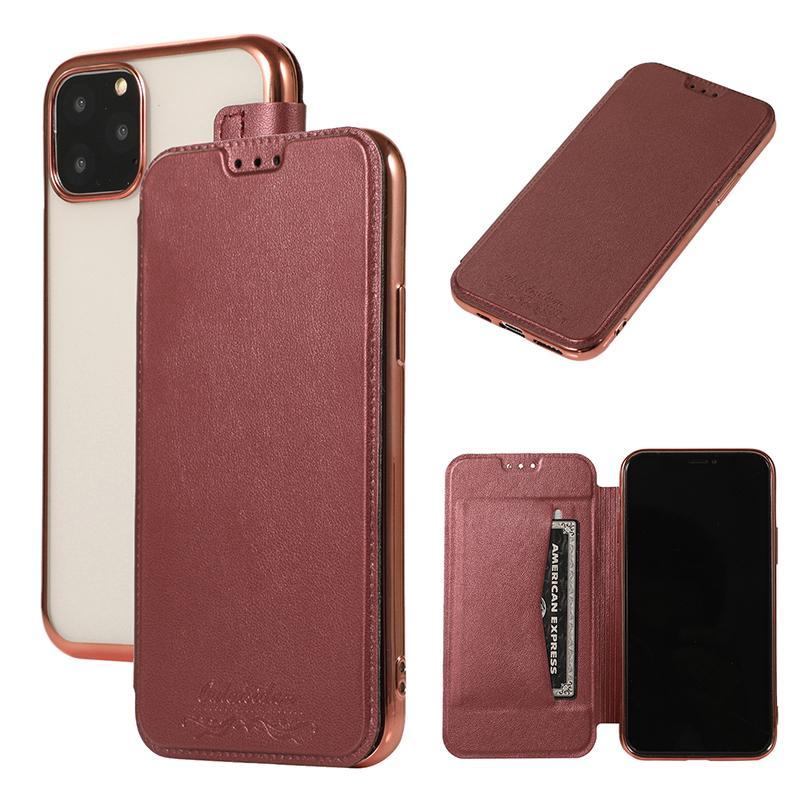 Portafoglio caso ibrido sottile di vibrazione del cuoio di placcatura TPU con la carta Slot iPhone copertura per 11 Pro Max XS XR X 8 7 6 Plus Samsung Galaxy S10 E S9
