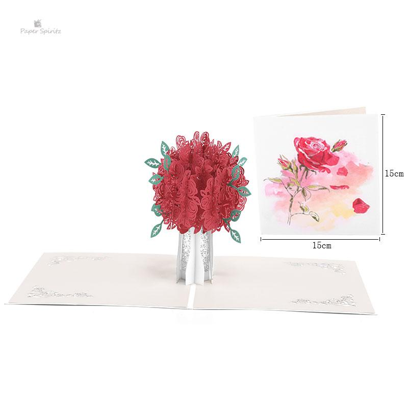 3D up Flower Wedding Invitation Greeting Gift Thank You Cards Blank Postcards Birthday Handmade Paper Laser Cut Thanksgiving