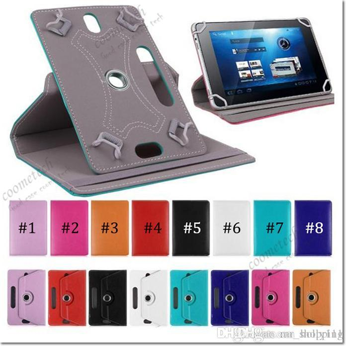 7 8 9 10 inch universal tablet case 360 Degree Rotate pu Leather Case ipad Cover Stand case For Samsung Galaxy Tab 3 4 iPad Air Tablet PC