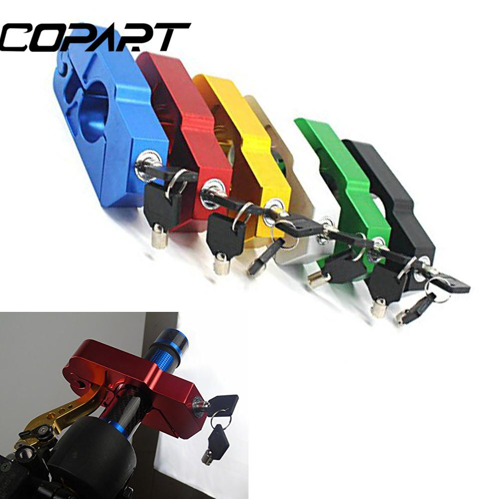Motorcycle CNC Grip Lock Security Safety Lock Handlebar Handset Brake Lever Disc Locking For Scooters ATV Dirt Street Bikes Auto