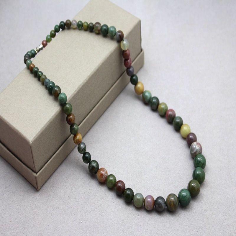 Аксессуары 6 8 10 12 Индия Оникс Бисером Ожерелье Дизайн Длинное Ожерелье Женщины Ожерелья Кулон